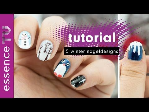 5 winter nagel designs - nail art tutorial deutsch für anfänger kurze nägel pinguinl essenceTV - http://47beauty.com/nails/index.php/2016/08/31/5-winter-nagel-designs-nail-art-tutorial-deutsch-fur-anfanger-kurze-nagel-pinguinl-essencetv/ http://47beauty.com/nails/index.php/nail-art-designs-products/  heute gibt es ein nail art tutorial auf deutsch mit 5 verschiedenen winter designs. sie sind perfekt für anfänger und kurze nägel geeignet.  im video benutzte produkte: the