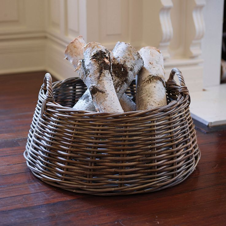 Nordic Log Basket #serenaandlily