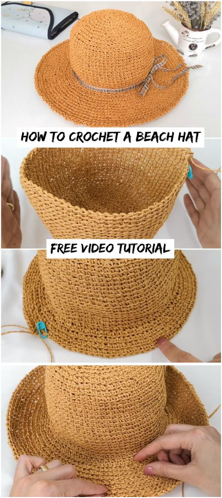 How To Crochet A Beach Hat – Crochetopedia