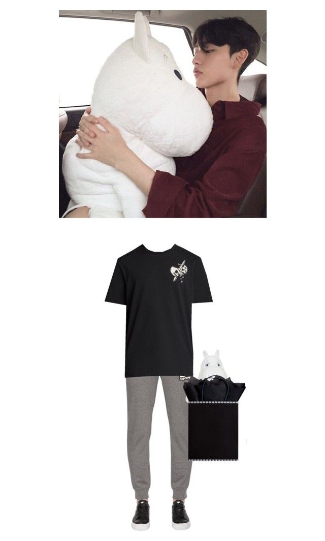 """""""Minjae ✘ Buying a christmas present"""" by x-weapon ❤ liked on Polyvore featuring EA7 Emporio Armani, AllSaints, The Gift Wrap Company, men's fashion and menswear"""