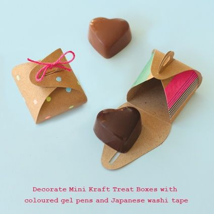 Mini Kraft Boxes | decorate for valentine's day and fill with treats
