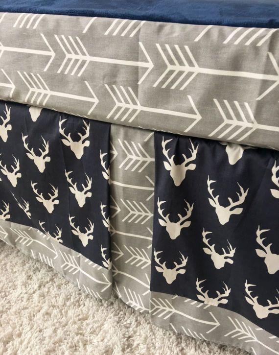 Best Navy Crib Skirt Ideas On Pinterest Navy Baby Rooms - Baby boy deer crib bedding sets