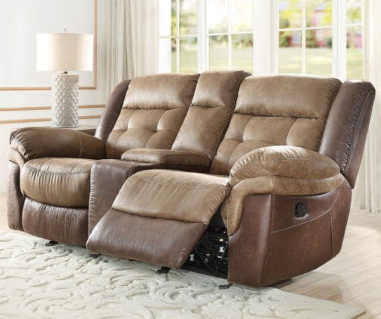 Mesa Brown Motion Console Loveseat In 2020