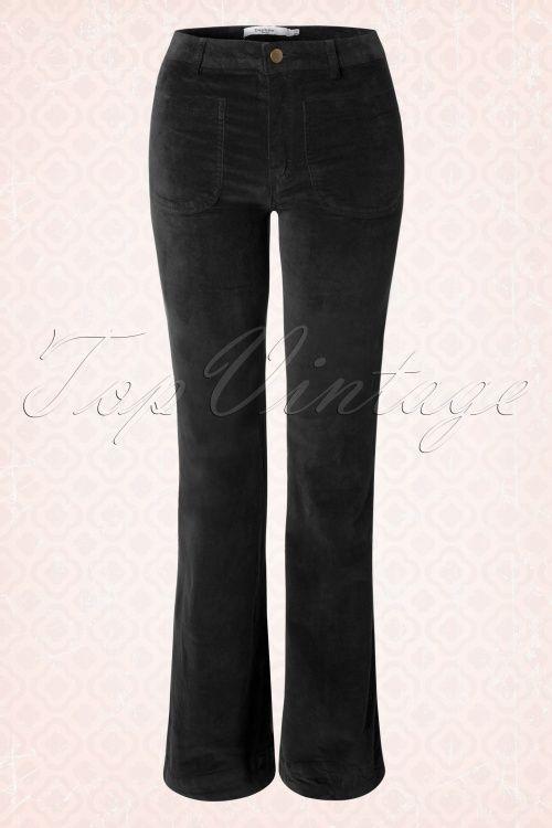 Daphne Paris Black Velvet 70s Trousers 131 20 17274 20151012 0008W