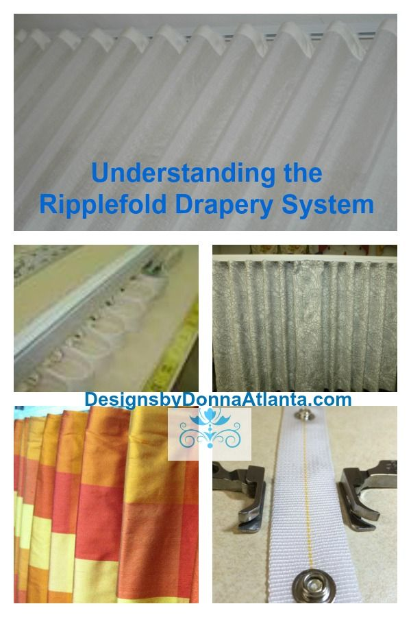 Confused with the Ripple fold Drapery system