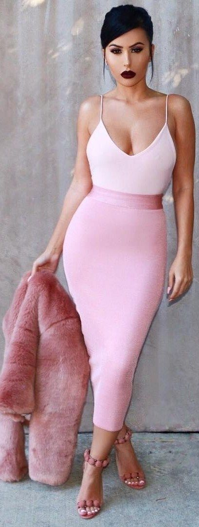 Pretty In Pink // Top & Skirt @hotmiamistyles //   Fashion Look by  amrezy                                                                                                                                                                                 More