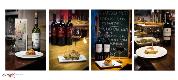 Las cuatro opciones del Pintxo Pote Vielha, en su primer martes http://gorkamartinez.blogspot.com.es/2012/11/325366fotos.html