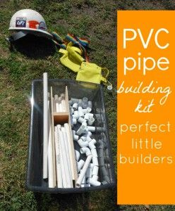PVC pipe building kit...boys would love this!Construction Kits, Construction Site, For Kids, Gift Ideas, Buildings Kits, Pipe Buildings, Sparkly Creative, Pvc Pipes, Pvc Pipe Toys