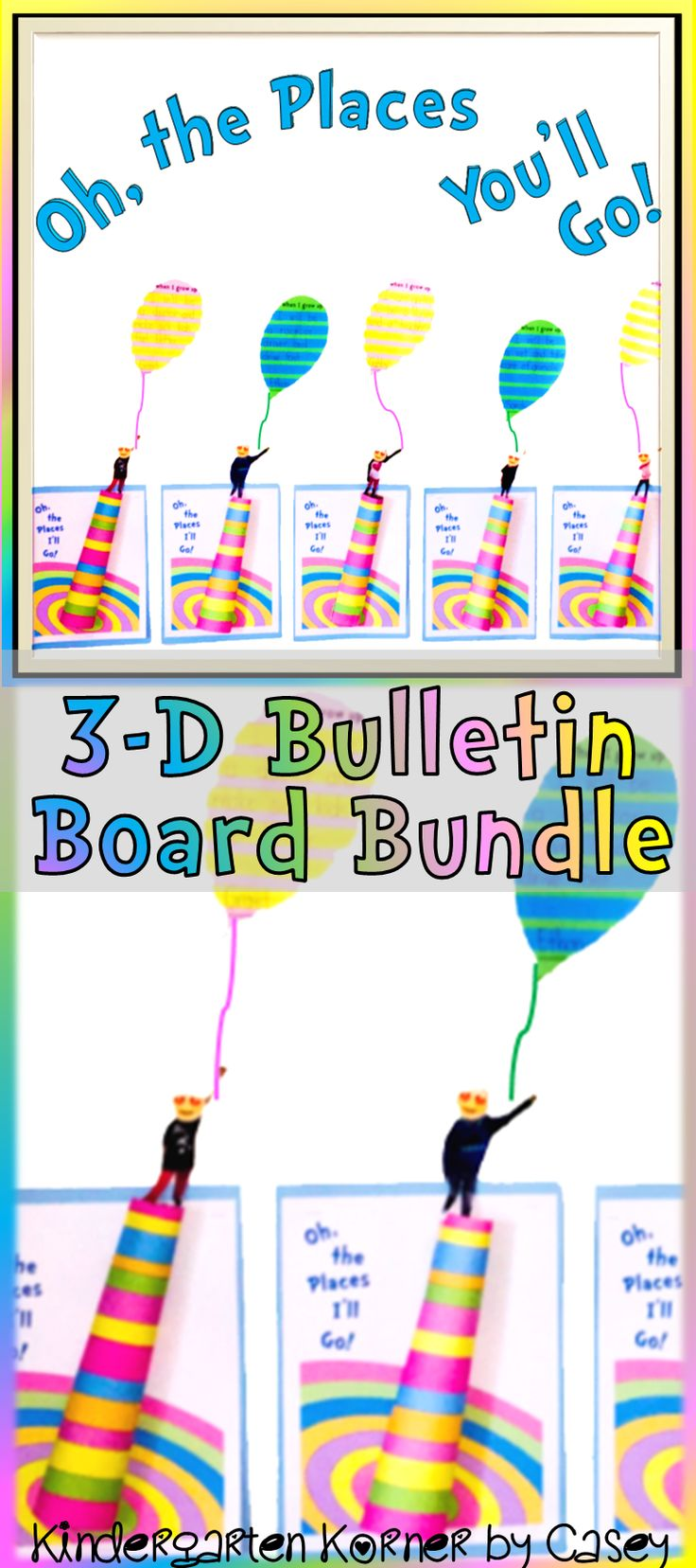 This Dr. Seuss Inspired Oh, the Places You'll Go! Bulletin Board BUNDLE includes 27 differentiated balloon writing templates, craft templates, bulletin board letters, and decor to create an AMAZING display for Dr. Seuss' birthday, the beginning of the year, graduation, or Read Across America! Both primary and regular lined templates accommodate writers in kindergarten through 4th grade.