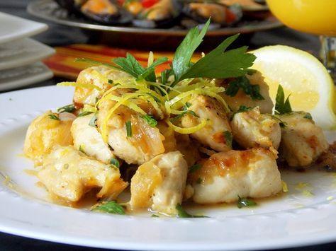 Cuisine espagnole : Poulet au citron et a l'ail