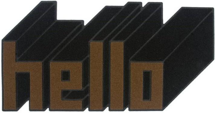 Paillasson design Hello 3D  +-29  royaledeco.com
