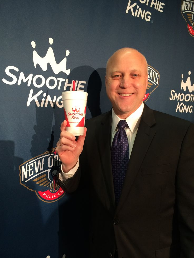 Mayor of New Orleans, Mitch Landrieu at the Smoothie King Center unveil on Feb. 6, 2014.