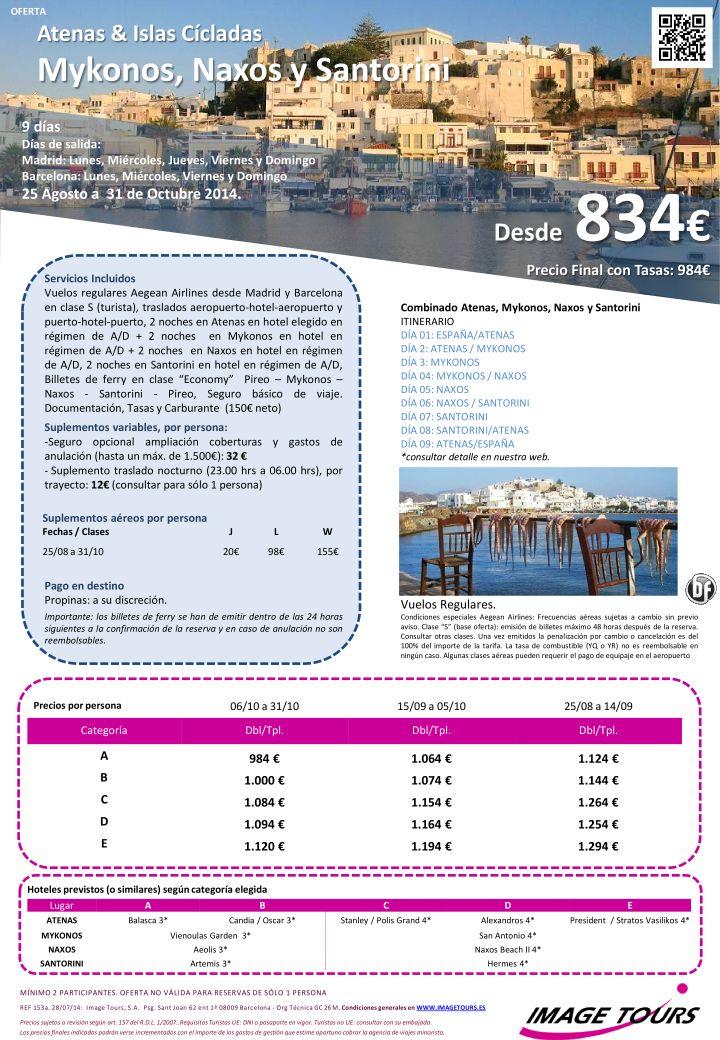 Vacaciones en GRECIA * Últimas plazas*: Mykonos, NAXOS y Santorini 9 días, desde 834€ ultimo minuto - http://zocotours.com/vacaciones-en-grecia-ultimas-plazas-mykonos-naxos-y-santorini-9-dias-desde-834e-ultimo-minuto/