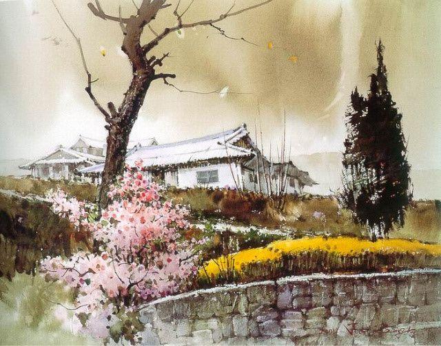 수채화 - 봄이 오는 소리