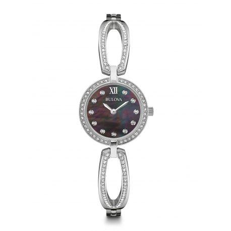 Reloj Bulova 129 cristales de Swarovski Cuarzo Acero Modelo 96L224