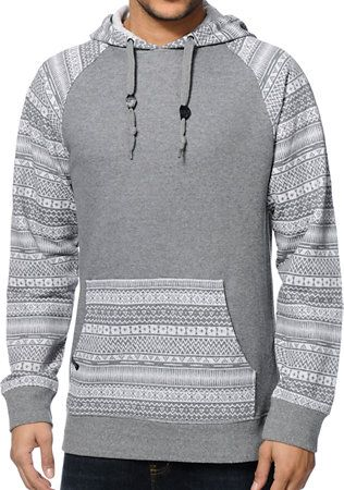 Empyre Stones Charcoal Tribal Pullover Hoodie at Zumiez : PDP