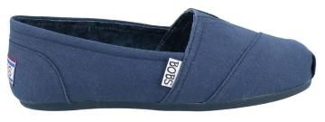 Navy Skechers Bobs Plush Peace & Love Slip-on Shoe FDY2F09KQ65C