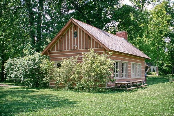 See photos below Providence Center facilities include our popular rustic lodge. Exit the west doors of Providence Center and follow the path to your right