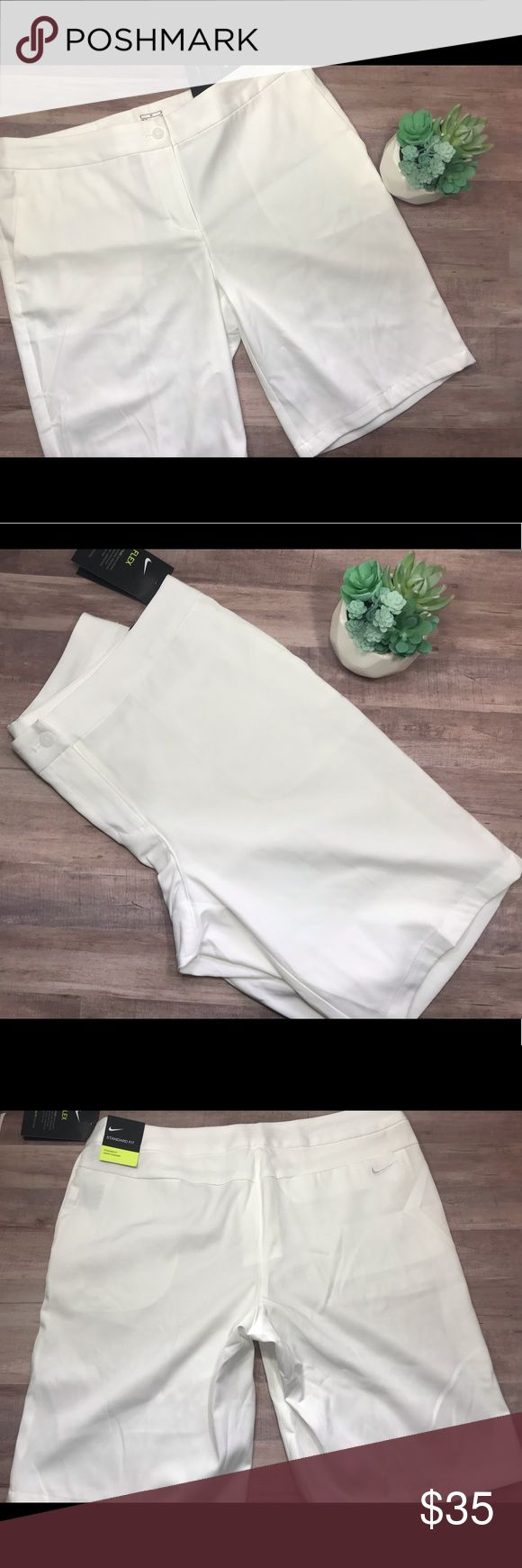 🆕NWT Nike Flex Dri Fit white shorts New with tags Nike Flex Dri Fit white sho…