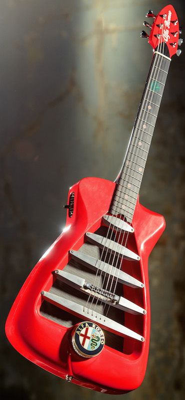 The Alfa Romeo Guitar - Harrison custom electric guitars, custom built to order in yorkshire by Guy Harrison