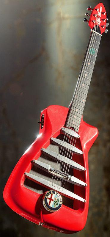 The Alfa Romeo Guitar - Harrison custom electric guitars, custom built to order in yorkshire by Guy Harrison