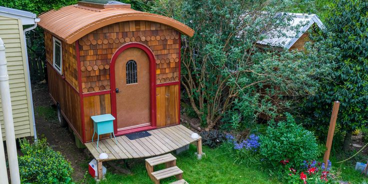 This Tiny Home Is Full of Small-Space Surprises  - HouseBeautiful.com  Wonderful, what a creative mind can do.
