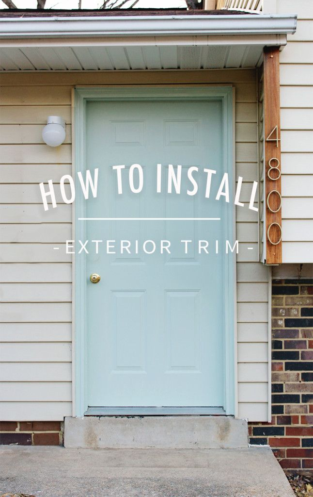 Installing New Construction Exterior Door. How To Install Exterior Trim |  Trim, Door And Trims Installing New Construction O