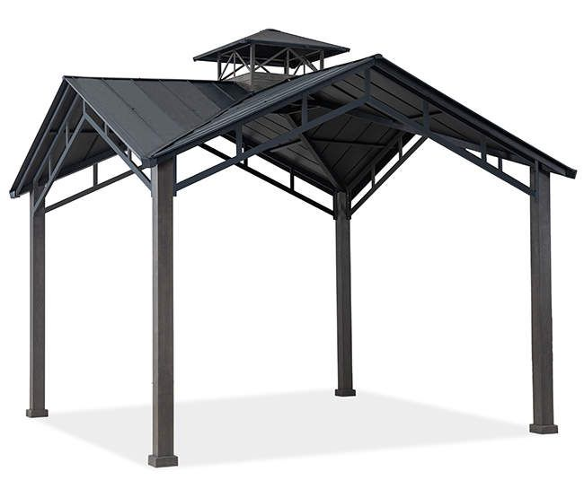 Broyhill Hard Top Pavilion 12 X 12 Big Lots In 2020 Backyard Pavilion Gazebo Big Lots Patio Seating Sets