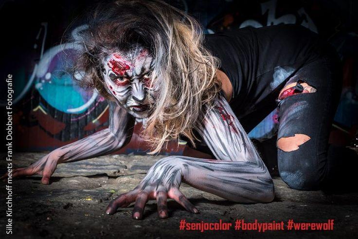 #Senjocolor #Werwolf #Bodypaint von Silke Kirchhoff