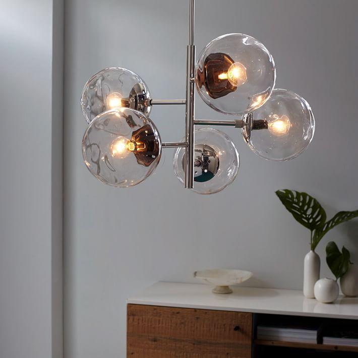 Blown Glass Chandelier - Asymmetrical