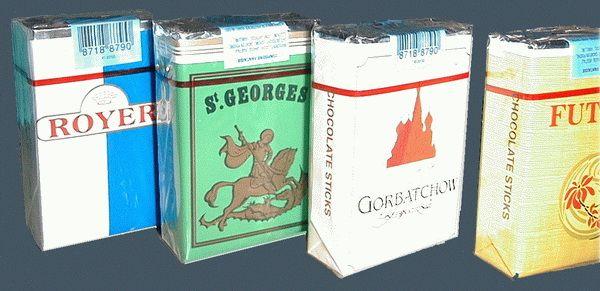 cigarettes en chocolat