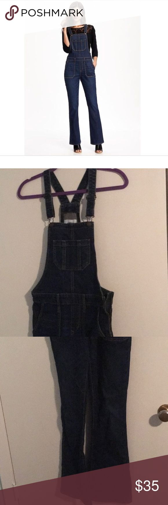 Old Navy Flare Overalls Old Navy Flare Overalls Size 0. I'm the second owner and I've only worn them once. Dark Wash, 30 inch inseam. Make an offer! Old Navy Jeans Overalls