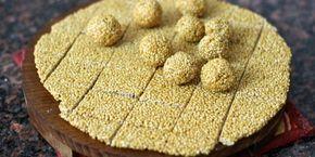 Til chikki recipe step by step tilgul recipe for makar sankranti or utrayan. Simple easy picture recipe of til chikki. Til chikki recipe.