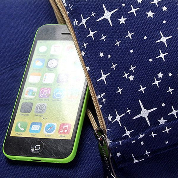 3Pcs Casual Women Canvas Backpack School Bags Star Print Crossbody Bags Clutch B - US$26.76
