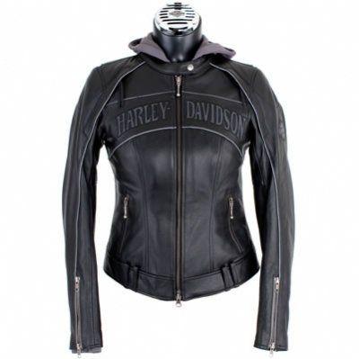 harley davidson clothing for women   … Skull 3-in-1 Leather Jacket – Harley Davidson Womens, 98152-09VW/000L