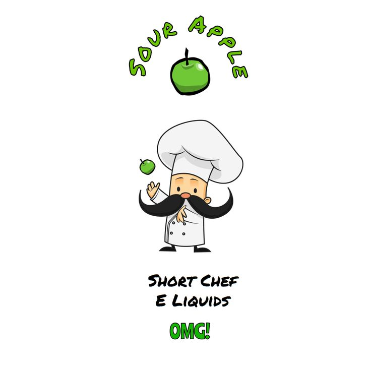 Amazing new sour apple Short Chef E Liquid. You will go crazy for this juice and look forward to the recipes under creation by Short Chef.
