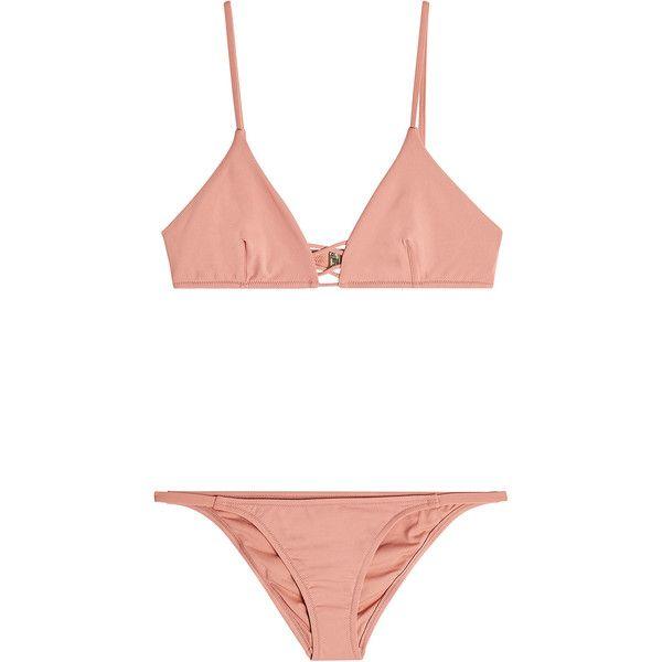 Melissa Odabash Sardinia Bikini found on Polyvore featuring swimwear, bikinis, bikini, swimsuits, swim, black, bikini bathing suits, beach swimsuits, beach bikini and bathing suits two piece