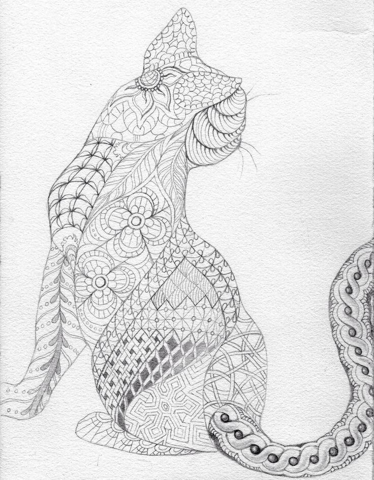 Zentangled Cat (Andie)