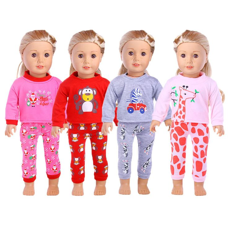 "Find More Dolls Accessories Information about 1pc Pajamas Suit For 18"" American Girl Doll Clothes And Accessories 15/16/17/18 Inch American Girl Doll Pajamas ingbaby WJ1598,High Quality doll pajamas,China american girl doll pajamas Suppliers, Cheap american doll pajamas from 100% baby house Store on Aliexpress.com"
