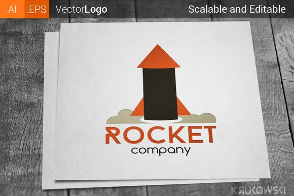 Check out Rocket Logo by Krukowski on Creative Market