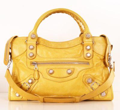 BALENCIAGA SATCHEL: Hello Yellow