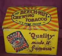 BEECH-NUT CHEWING TOBACCO Country Store Counter DISPLAY BIN TIN