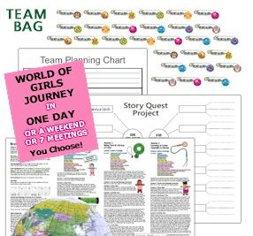 8 Ideas for Girl Scout Brownie World of Girls Journey - MakingFriends.com