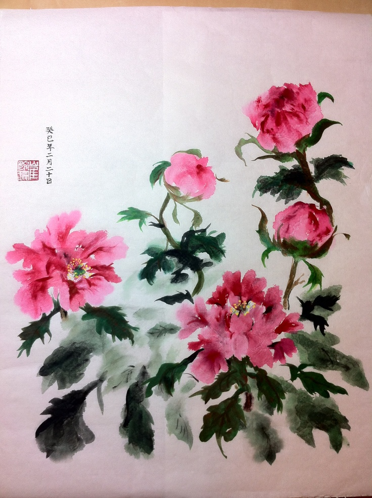 Peony Chinese paint