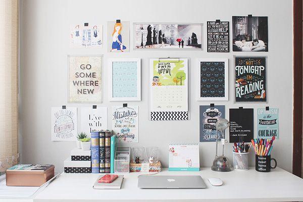 Repaginada no home office (e mural de inspirações)