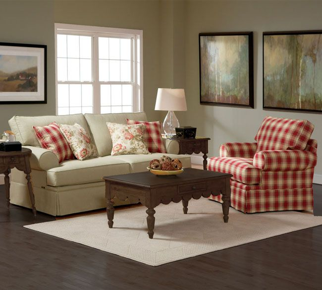 Broyhill® Emily Cottage Queen Goodnight Sleeper Sofa And Chair Set