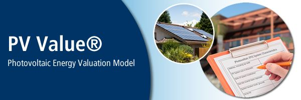 PV Value®: Photovoltaic Energy Valuation Model