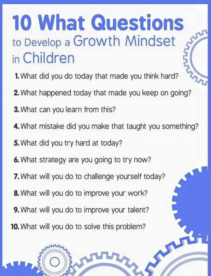 10 questions to help children develop a growth mindset