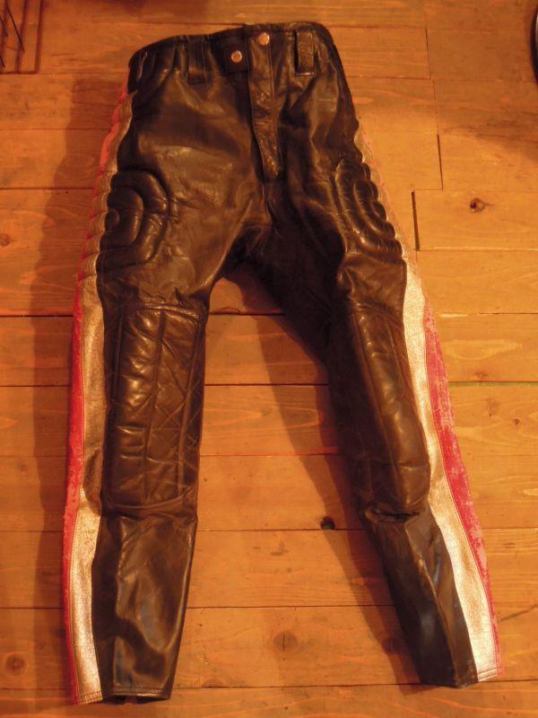 Vintage Hondaline Leather Motocross Pants 32 2 Stroke