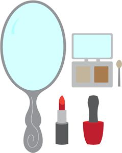 makeup--------------------I think I'm in love with this shape from the Silhouette Online Store!